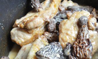 Recette poulet aux morilles et au vin jaune